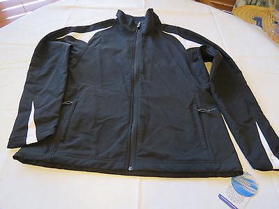 Holloway Athletic sportswear wind resistant jacket L ladies womens black NOS NWT