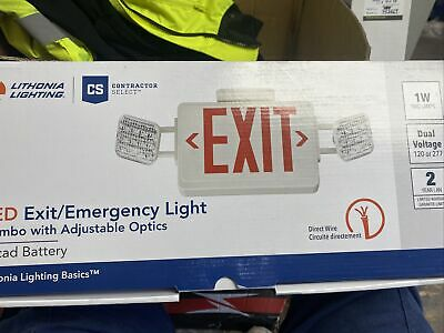 Lithonia Lighting Ecr Led M6 Contractor Led Exit Signfixture New Other