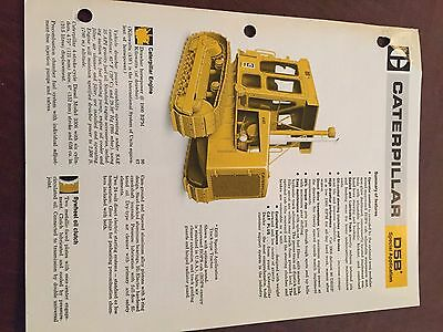 Caterpillar Cat D5b Crawler Dozer Brochure Original Antique Tractor