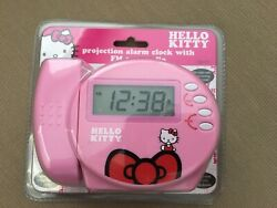 Sanrio Hello Kitty Projection Alarm Clock Radio - Pink - New in package