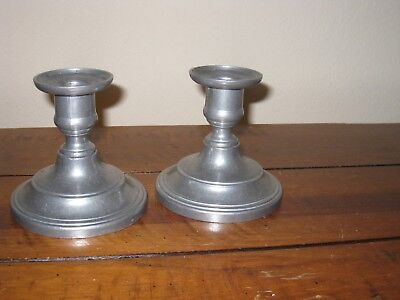 """Two (2) Eales 1779 Pewter 4"""" Candle Holders  for sale  Indio"""