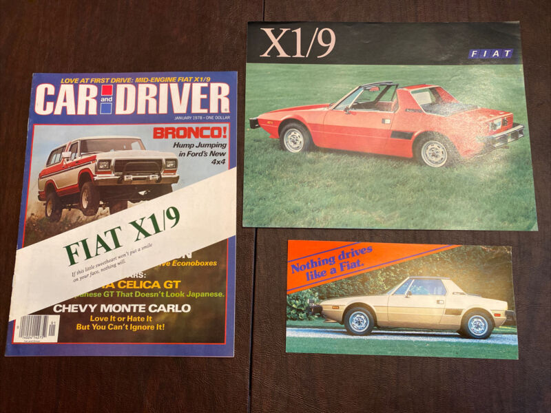 Fiat X1/9 Set Of 3 Brochures And Post Card Original Excellent Condition