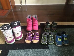 Shoes and clothing for sale.