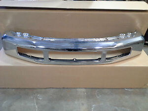 2008 2010 ford f250 f350 super duty chrome front bumper ebay. Black Bedroom Furniture Sets. Home Design Ideas