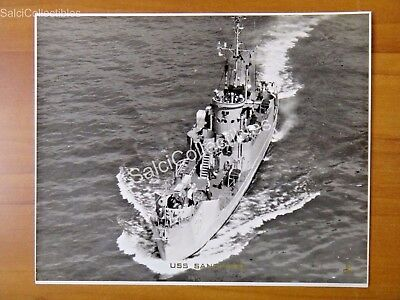 Official  Us Navy Ship Minesweeper Photograph 8X10 Amcu 38 Sandpiper