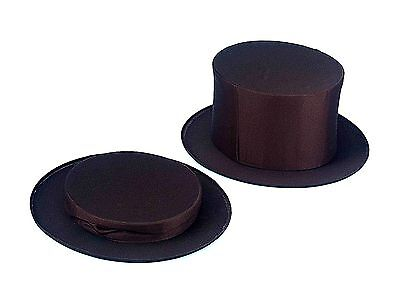 XL FOLDING TOP HAT Collapsible Magician Costume Spring Black Pops Up Adult Large