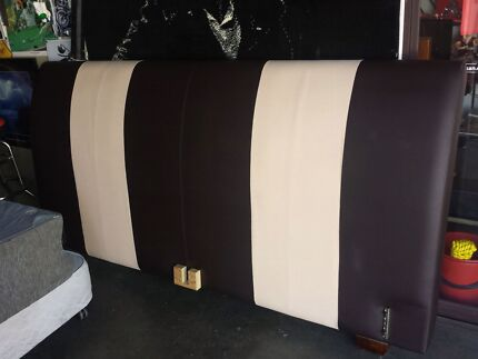 king leather look frame with mattress pillowtop