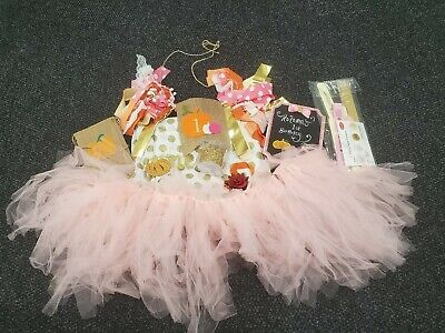 Fall Themed Parties (1st Birthday Autumn Themed Decorating Kit Party Supplies Baby Girl)
