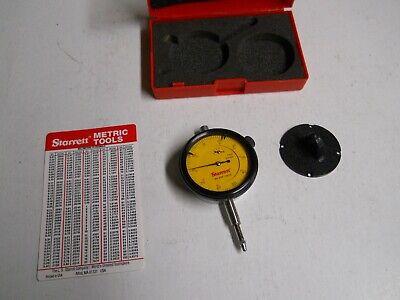 Starrett 25e-4815 Metric. Dial Indicator .01mm  Slightly Used - New