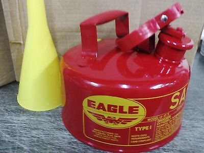 Eagle Safety Gas Can 2 Gallon Osha Nfpa Approved. New