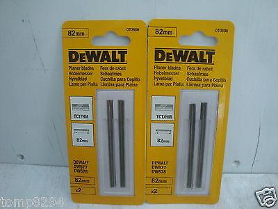 2 X PAIRS OF DEWALT DT3906 82MM TCT PLANER BLADES D26500 DCP580 ETC