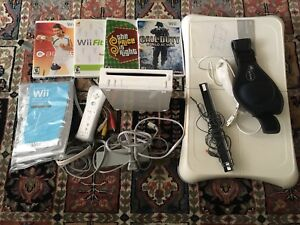 Wii Game Console, balance board, games