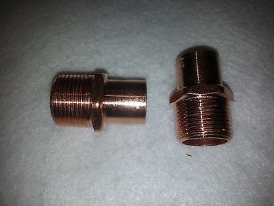 34 Copper Street Male Adapter Ma Sweat Solder Pressure Fitting New. Lot Of 2