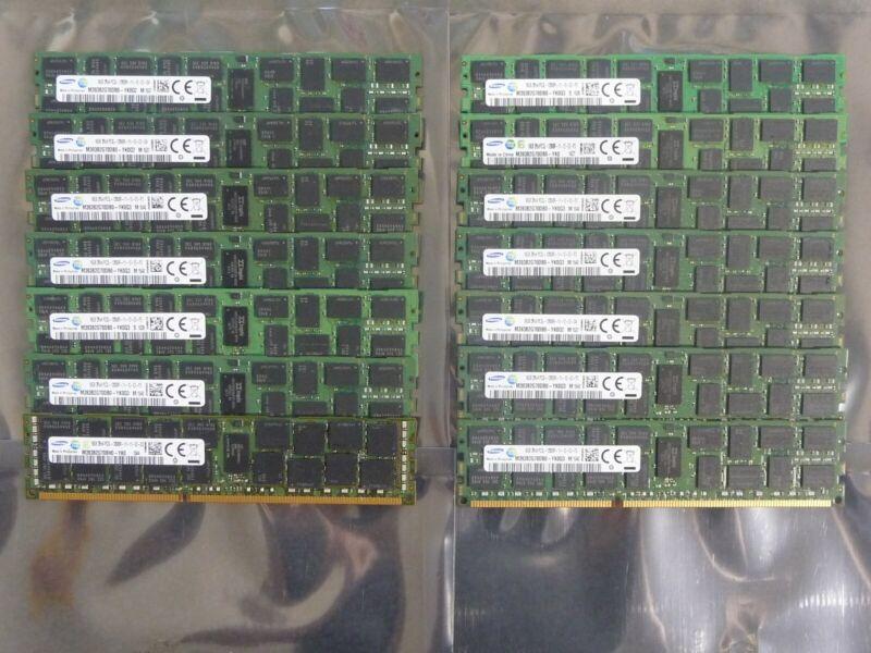 14 x Samsung 16GB 2Rx4 PC3L-12800R DDR3-1600 RDIMM Server RAM