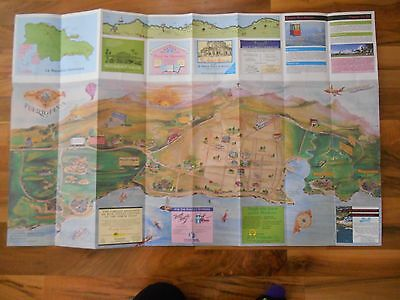 Old Vintage Dominican Republic Puerto Plata Map & Advertising Frame it Gift it!