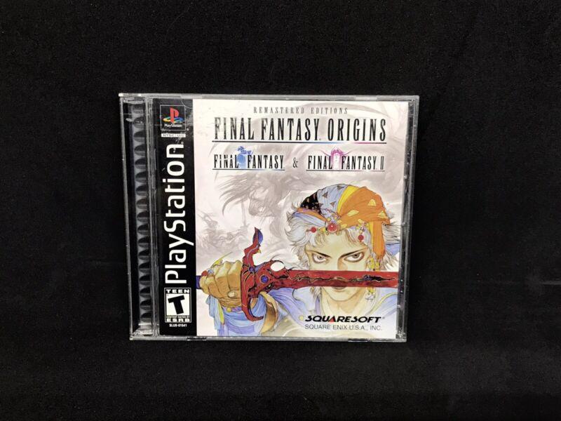 Final Fantasy Origins, Sony PlayStation PS1 Black Label Complete Box CIB, Tested