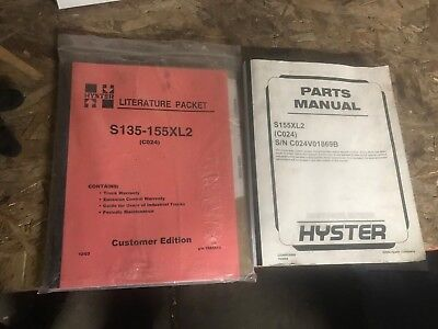 Hyster S135-155xls Literature Packet And Parts Manual