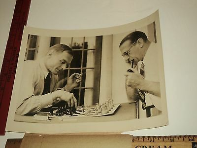 Rare Historical Original Vtg Soviet V Alexiev Uk High Com Garnett Chess Oz Photo