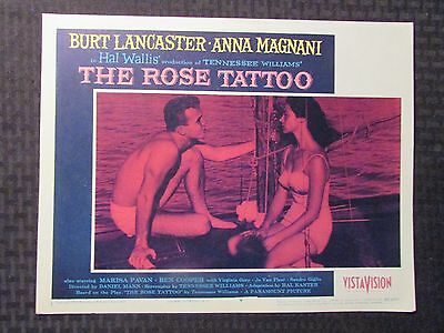 1955 THE ROSE TATTOO Original 14x11 Lobby Card #1 4 8 VG-/VG+ LOT of 3
