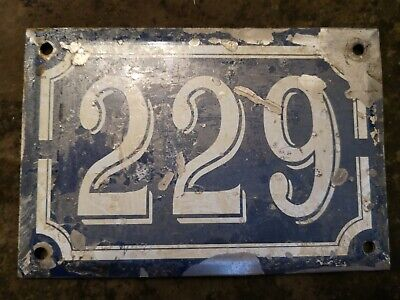 French House Number 229 Plate Vintage Antique
