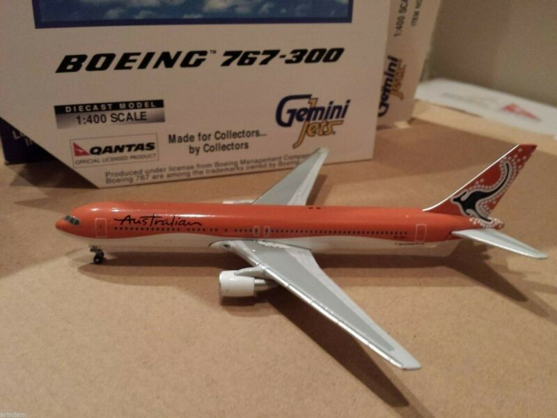 Gemini Jets Australian Airlines B 767-338ER 1:400 GJQFA321 2000s Colors VH-OGJ