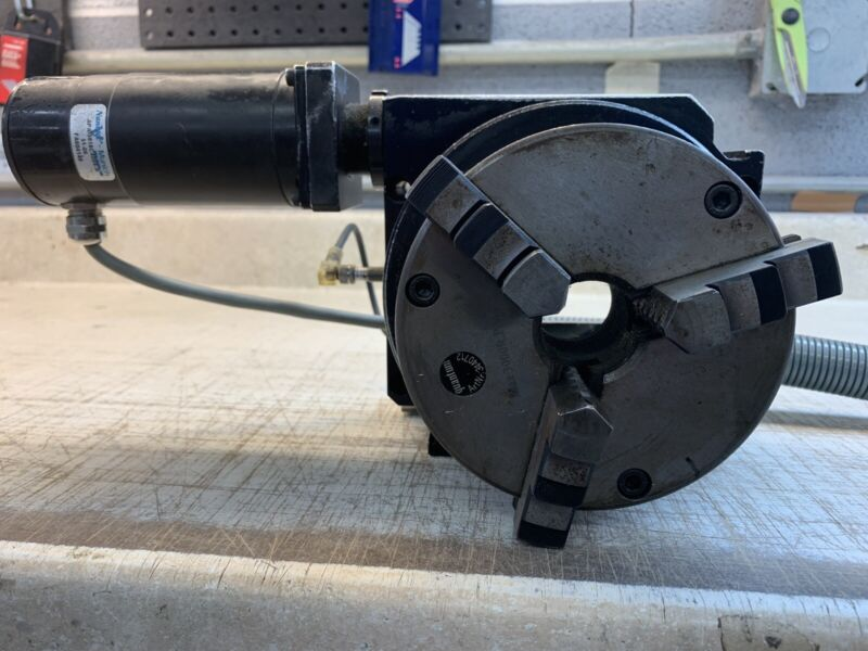 "Rotary Table 5"" Chuck Parker ? CNC 4th axis Heavy Duty Stage"