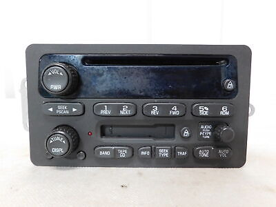 02-05 Chevrolet Impala CD and Cassette Tape Player Radio OEM LKQ