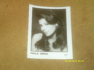 "Paula Abdul promo 8"" x 10"" photo from 1995, Virgin (NM shape)"