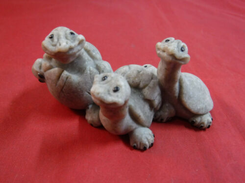 "FC4 Quarry Critters ""Tres Amigos"" Three Hatching Baby Turtles  2000 ""ADORABLE"""