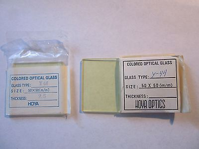 Hoya Optical Glass Filter Y-44 50x50 Mm Square New