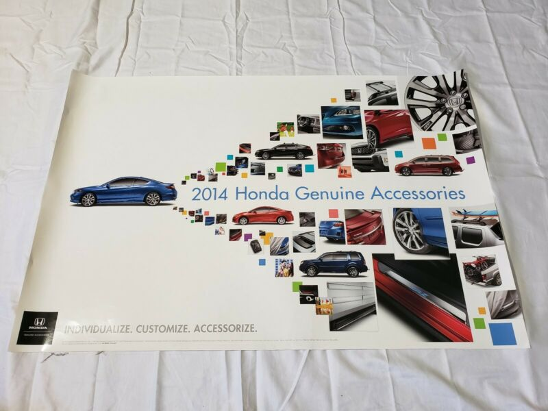 "2014 Honda Genuine Accessories Dealership Promotional Poster 36""×24"" USA"