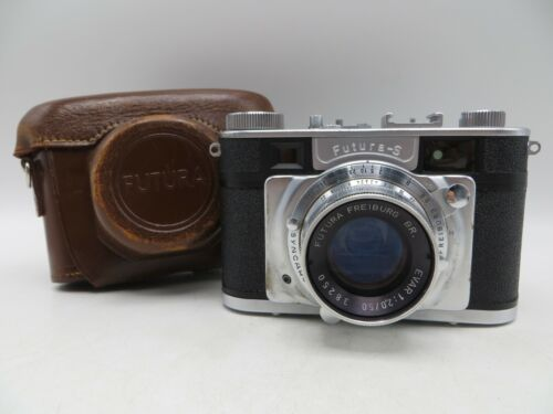 Vintage Rare - Futura S 35mm Film Rangefinder Camera w/ Evar 50mm F2 Lens & Case