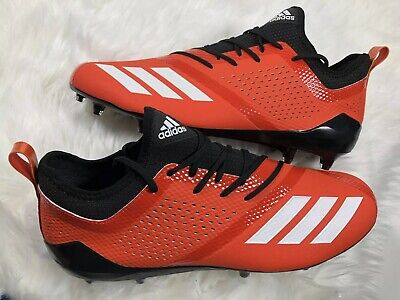 new concept 55b21 04c32 Adidas Adizero 5-Star 7.0 Low Men s Orange Molded Football Cleats DA9541 Sz  13.5