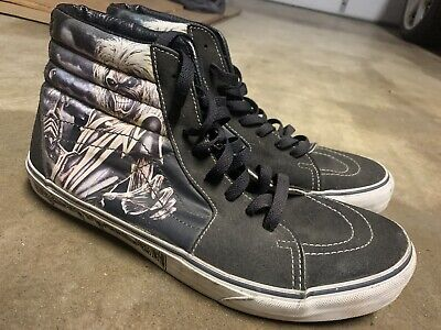 Vans Sk8 Hi Iron Maiden The Trooper Collectible Rare Skateboard Shoes, Men Sz 11