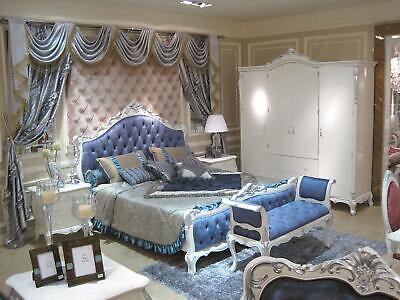 Camera da Letto Set Completo Cassettiera Specchiera Lenzuola Barocco Rococo