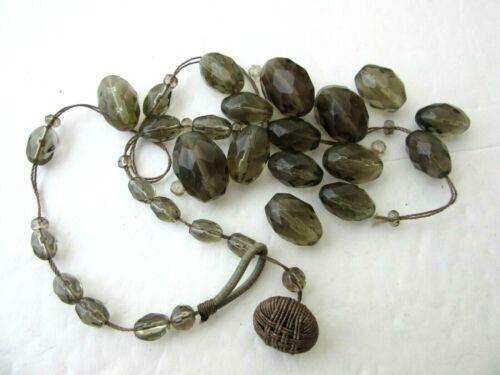 Vintage Smoke Color Beads Broken Necklace