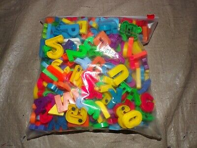 Plastic Magnetic Letters (Gallon Bag Full of Plastic Magnetic Letters/Numbers Refrigerator Magnets Crafts)