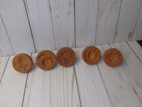 A5 RyCraft Cookie Stamps Lot Of 5 sunflowers tea pot apple wheat pinecone
