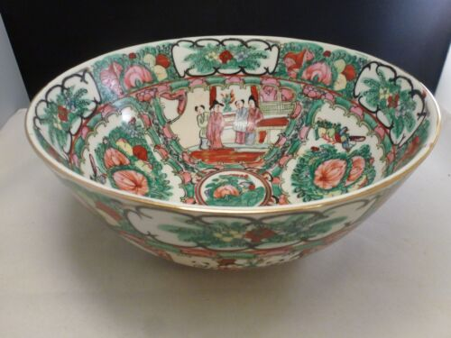 """Antique Chinese  Famille Rose Medallion  Bowl 10 """""""