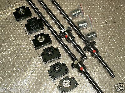 3 Anti Backlash 25mm Ballscrew Rm2505-60010001000mmbkbf15 Bearing Cnc Set