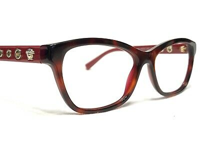 Versace MOD3225 5184 Womens Red Tortoise Rx Designer Eyeglasses Frames 54/16~140
