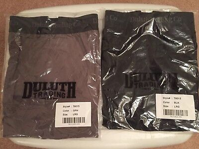 Duluth Trading Co  Mens Buck Naked Performance Boxer Briefs  2Pairs Large