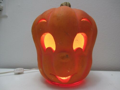 "Halloween Decor - Trendmasters Casper Ghost JOL Pumpkin Blow Mold Light 10"" T"