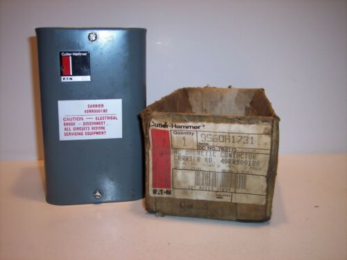 Cutler Hammer/Carrier Magnetic A/C Contactor 3 Pole 24Volt-- 600Volt 9560H1731