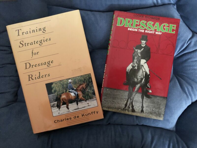 2 Horse book lot- Dressage , training