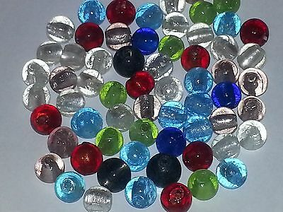 Wholesale 12MM Handmade Silver Foil Glass Round Spacer Loose Beads About 40pcs.