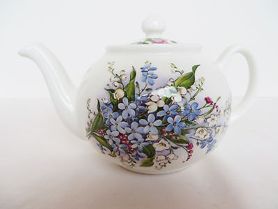 3 Cup Teapot Forget Me Not Fine Bone China England Royal Patrician