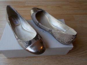11ac0c6947 Jimmy Choo Whirl Python Ballet Flat Shoes Cap Toe Snakeskin sz 39.5 US 9 NIB