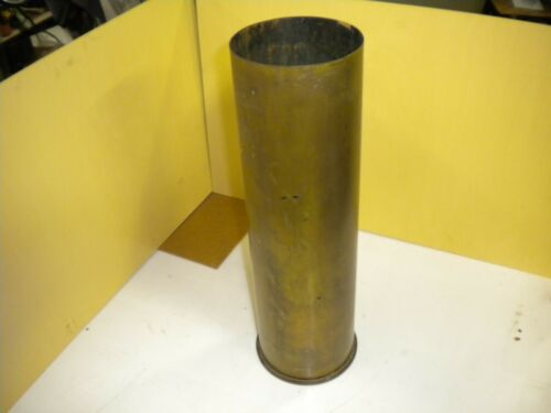 VINTAGE WW2 BRASS 105 MM M14 Type 1 ARTILLERY SHELL DATED 1944 Military Artifact