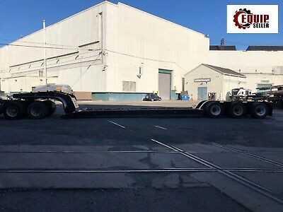 1999 Fontaine 403a-ngb 3 Axel 50 Ton Equipment Lowboy Rgn Flat Bed Trailer